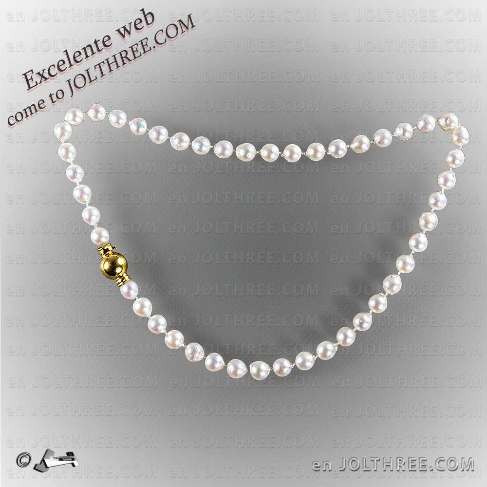 9a9942a8ed30 Collar perlas broche oro 18Kts - JOLTHREE.COM